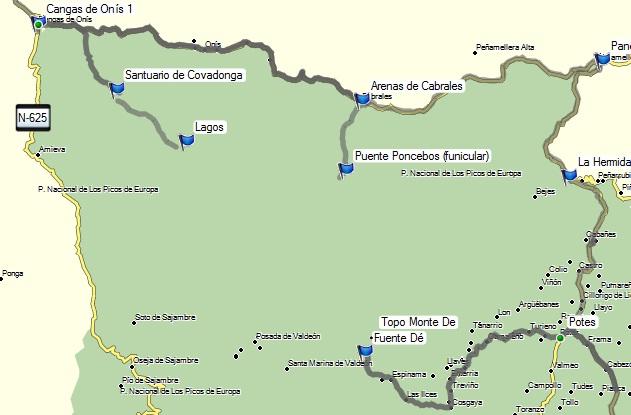 mapa picos da europa espanha Picos da Europa Galiza Gerês, parte 2 | Viajar de Mota mapa picos da europa espanha